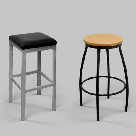 backless restaurant bar stools