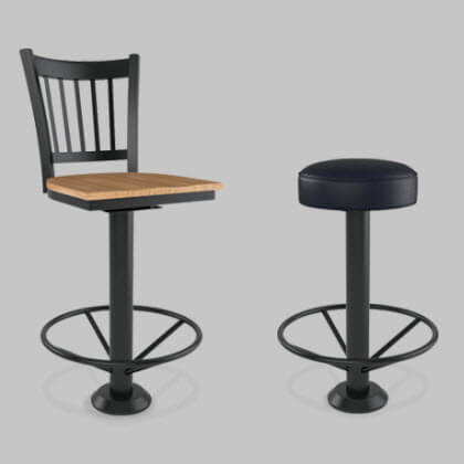 bolt down restaurant bar stools