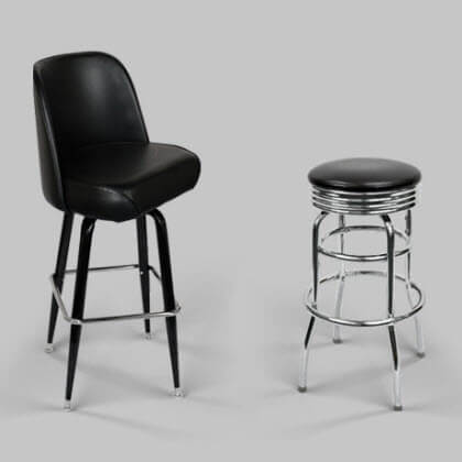 retro restaurant bar stools