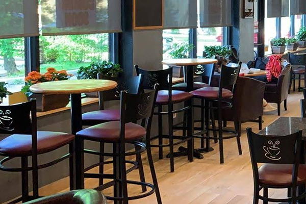 Coffee cup back bar stools