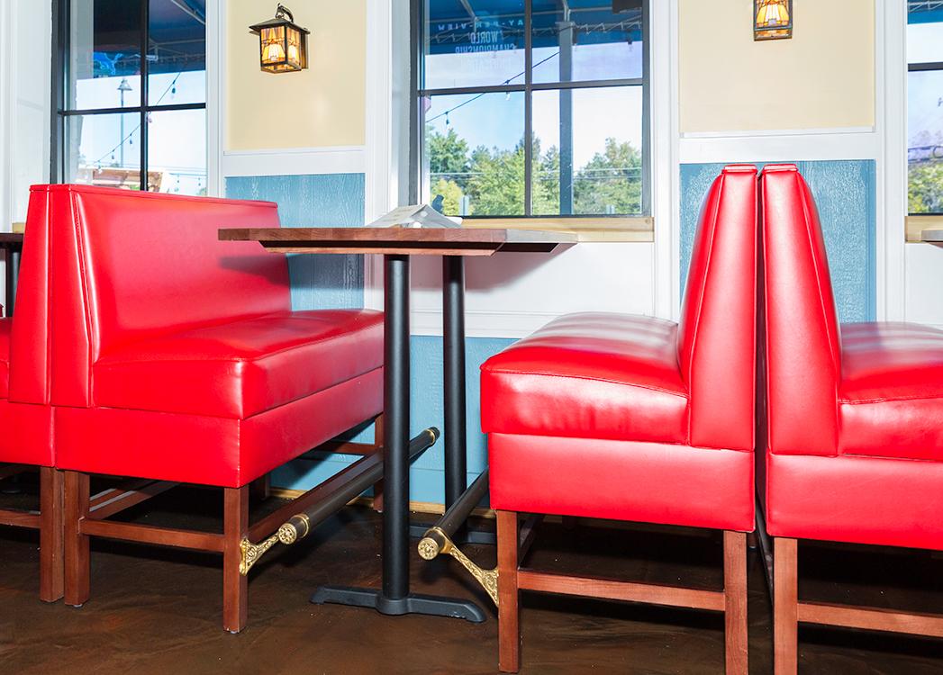 bar height restaurant booths