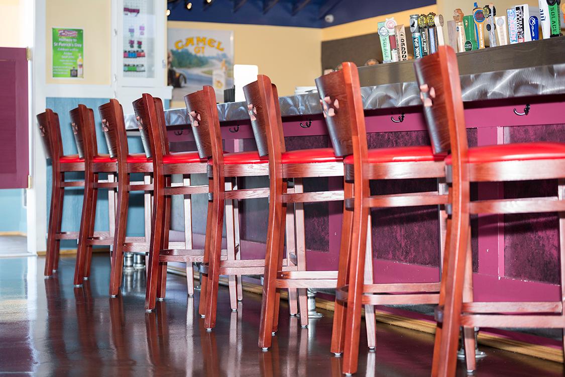 wood restaurant bar stools