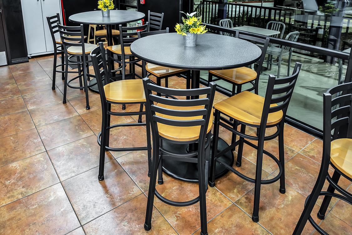 metal ladder back bar stools