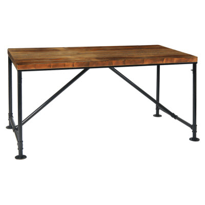 industrial wood restaurant tables